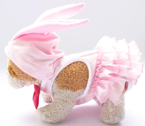 Rabbit Pink Pet Clothes