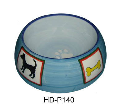 Ceramic round shape dog bowl