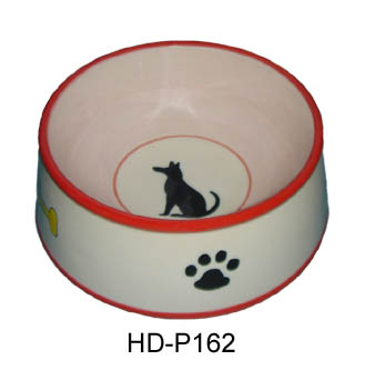 Ceramic pet feeder dog bowl