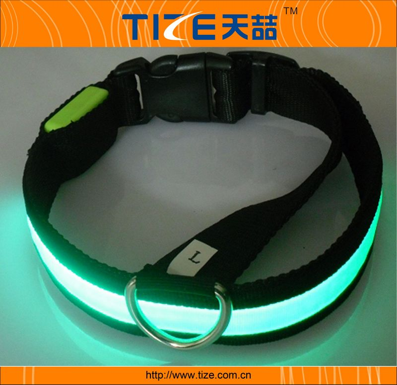 Hot sell  waterproof safety led flashing dog collar TZ-PET1036