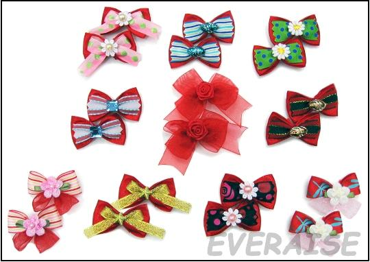 CHRISTMAS HAIR BOWS ARE STARTED MADE