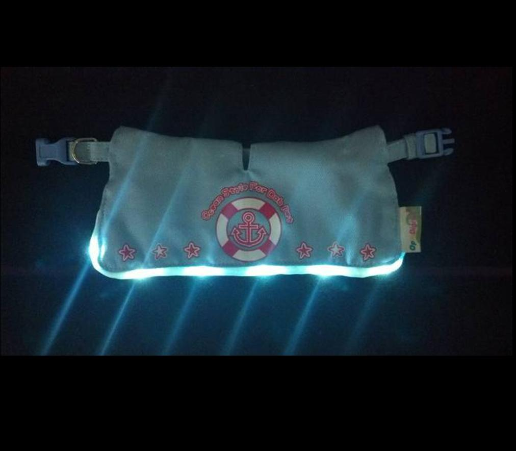 LED Flashing Bandanna -Navy