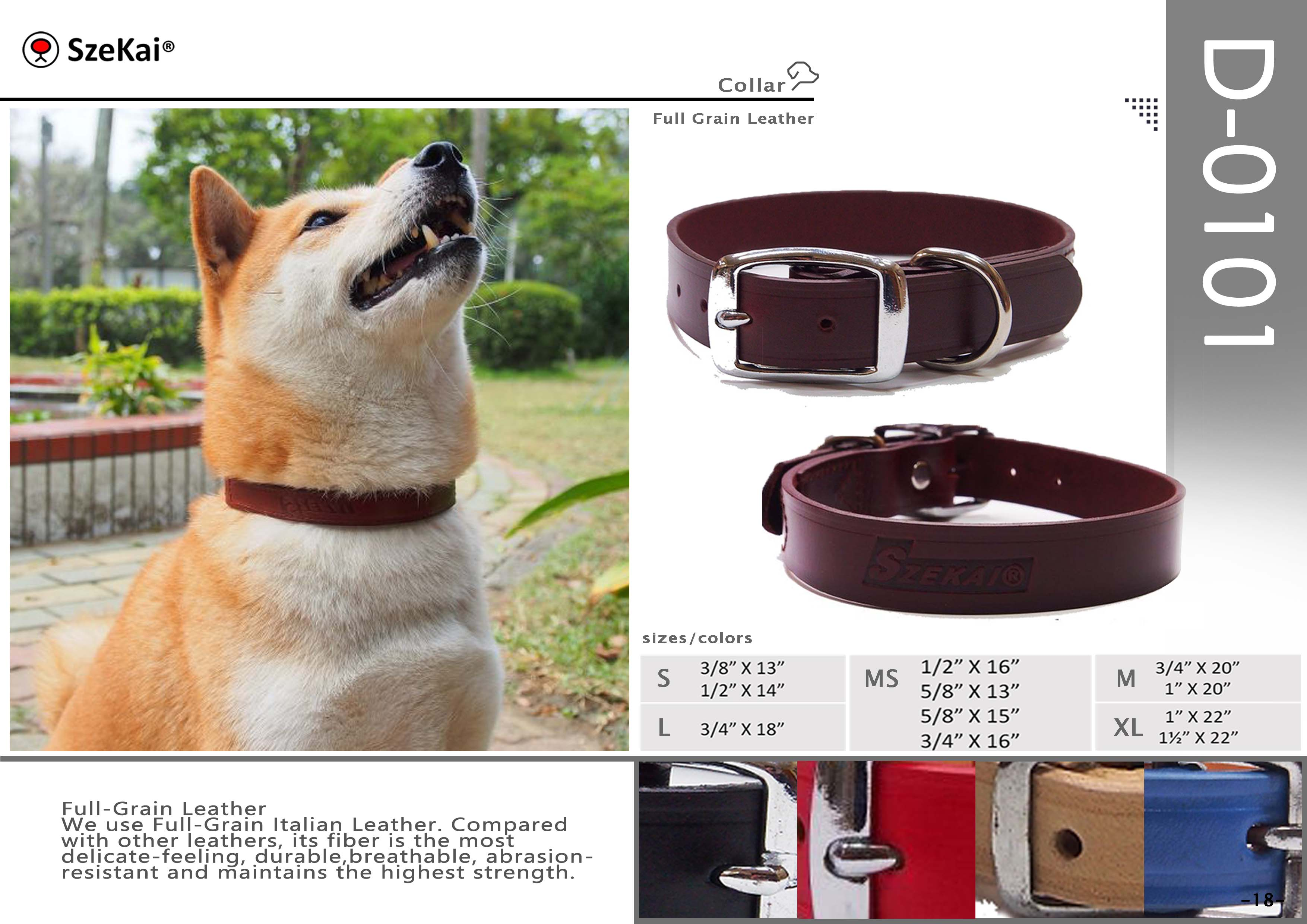 Full Grain Leather Collar