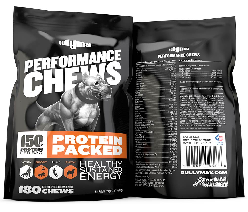 Bully Max Canine Performance Supplements