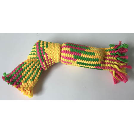 pet rope toy with BB squeaker