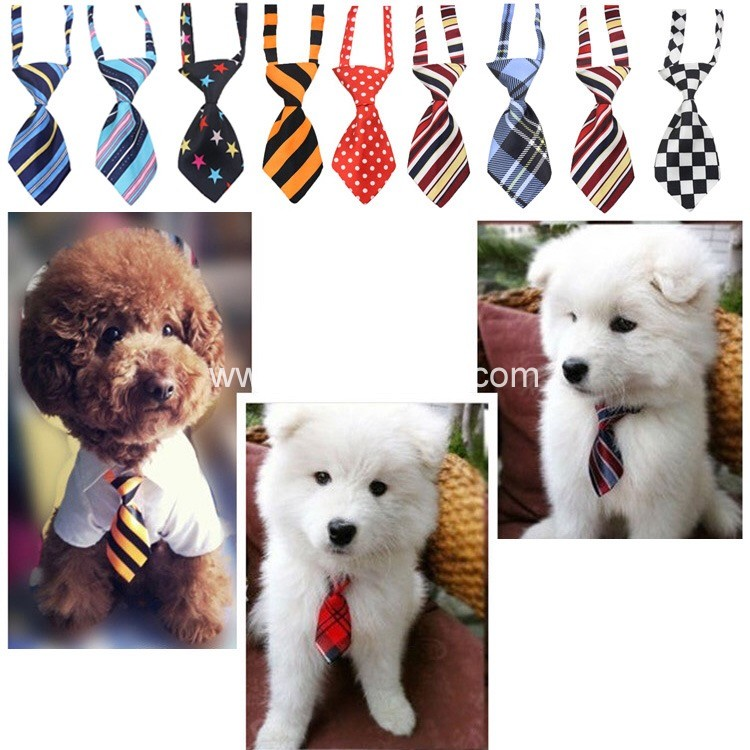 new Dog Bow Ties Necklace Pup Dog Collar Pet Bow Tie