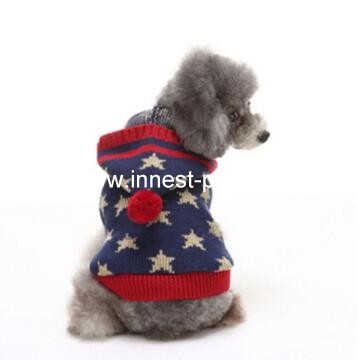 hot sales star pet dog clothes with hat