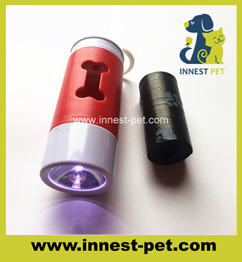 Pet Products PP plastic Led dog poop bag holder dispenser
