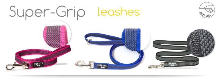 Color&Gray™ Super-Grip leashes and collars