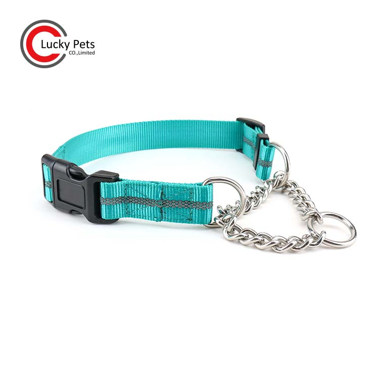China Chain Nylon Martingale Dog Collar