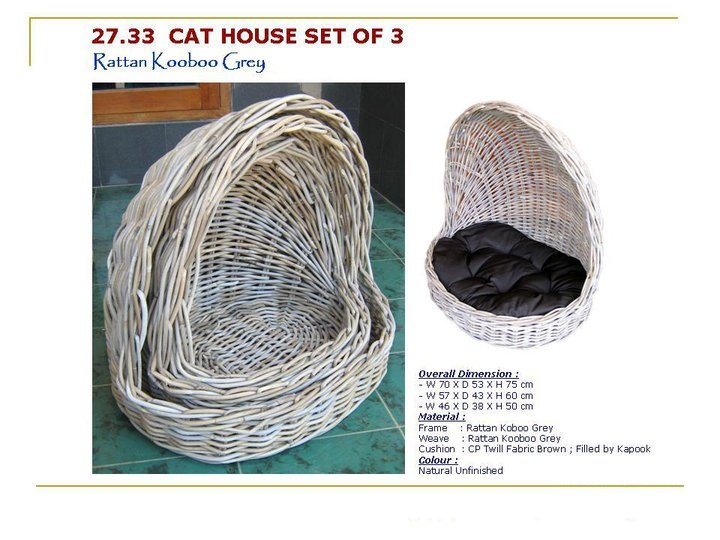 Rattan Dogs Basket