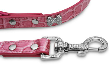rhinestone bone dog leash